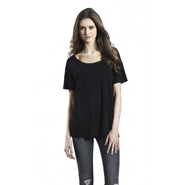 T-skjorte med trykk Økologisk Earth Positive WOMann ORGANIC COTTON/TENCEL BLEND OVERSIZED   - Klestrykk.no